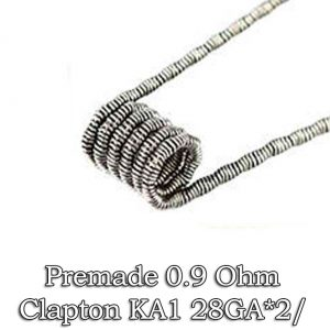 PREMADE COILS CLAPTON TWISTED 0.9 OHM