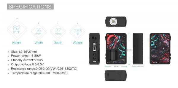 pulse80res 9 600x299 - PULSE BF 80W SQUONK MOD BY VANDY VAPE