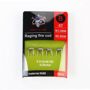 RAGINGFIRE0.25GREEN 300x300 - DEMON KILLER - RAGING FIRE NI80 COIL EDITION - 4PCS 0.3+(0.08*48)  0,25ohm