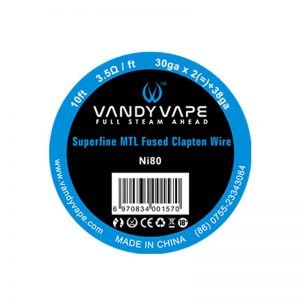 NI80 Superfine MTL Fused Clapton Vandy Vape 10FT