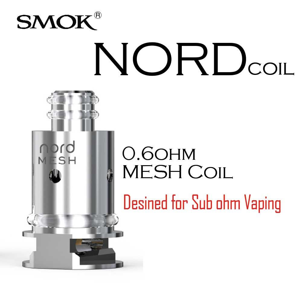 nord coil 0.6 ohm. 1000x1000 - SMOK Nord Mesh Coil 0.6ohm